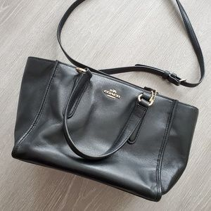 Coach Mini Crosby Smooth Leather Zip Satchel